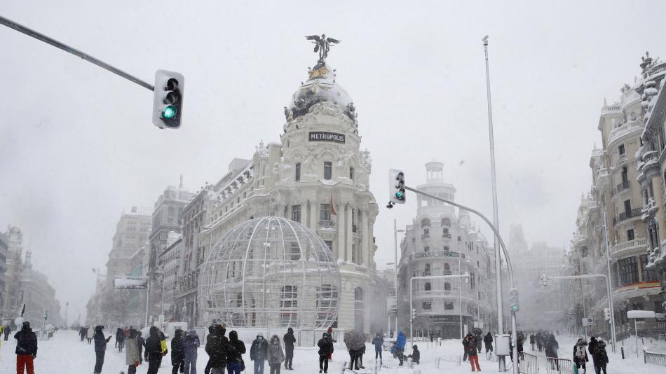 این بارش برفی تاریخی بود که مادرید – اروپا – بین المللی را نابود کرد