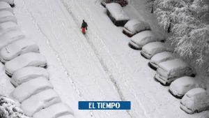 کلمبیایی در میان قربانیان طوفانی که مادرید را با برف پوشانده است – اروپا – بین المللی