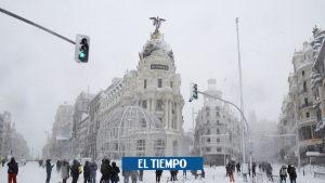 این بارش برفی تاریخی بود که مادرید-بین المللی را سرنگون کرد