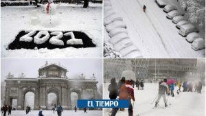 عکس های بارش برف در مادرید ، اسپانیا امروز ، 9 ژانویه 2020 – اروپا – بین المللی