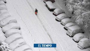 کلمبیایی در میان قربانیان طوفانی که مادرید را با برف پوشانده است – بین المللی