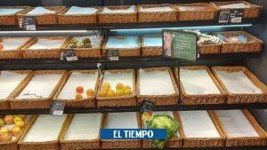 پس از طوفان برف – در برخی از سوپرمارکت های مادرید کمبود وجود دارد – بین المللی