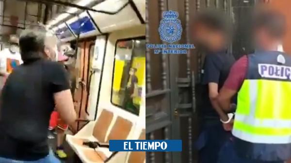 ویدئو: کلمبیایی در اسپانیا کسی را که از او خواسته بود ماسک بزند – اروپا – بین المللی شکست داد